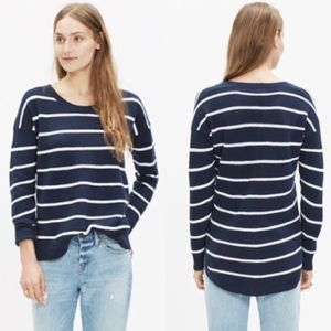 Madewell Chronicle Pullover Sweater in Navy Stripe